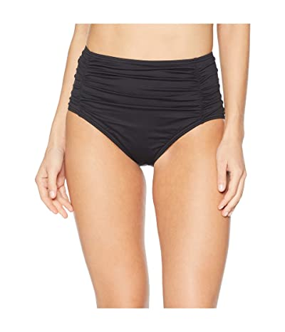 Tommy Bahama Pearl Shirred High-Waisted Swim Pant (Black) Women