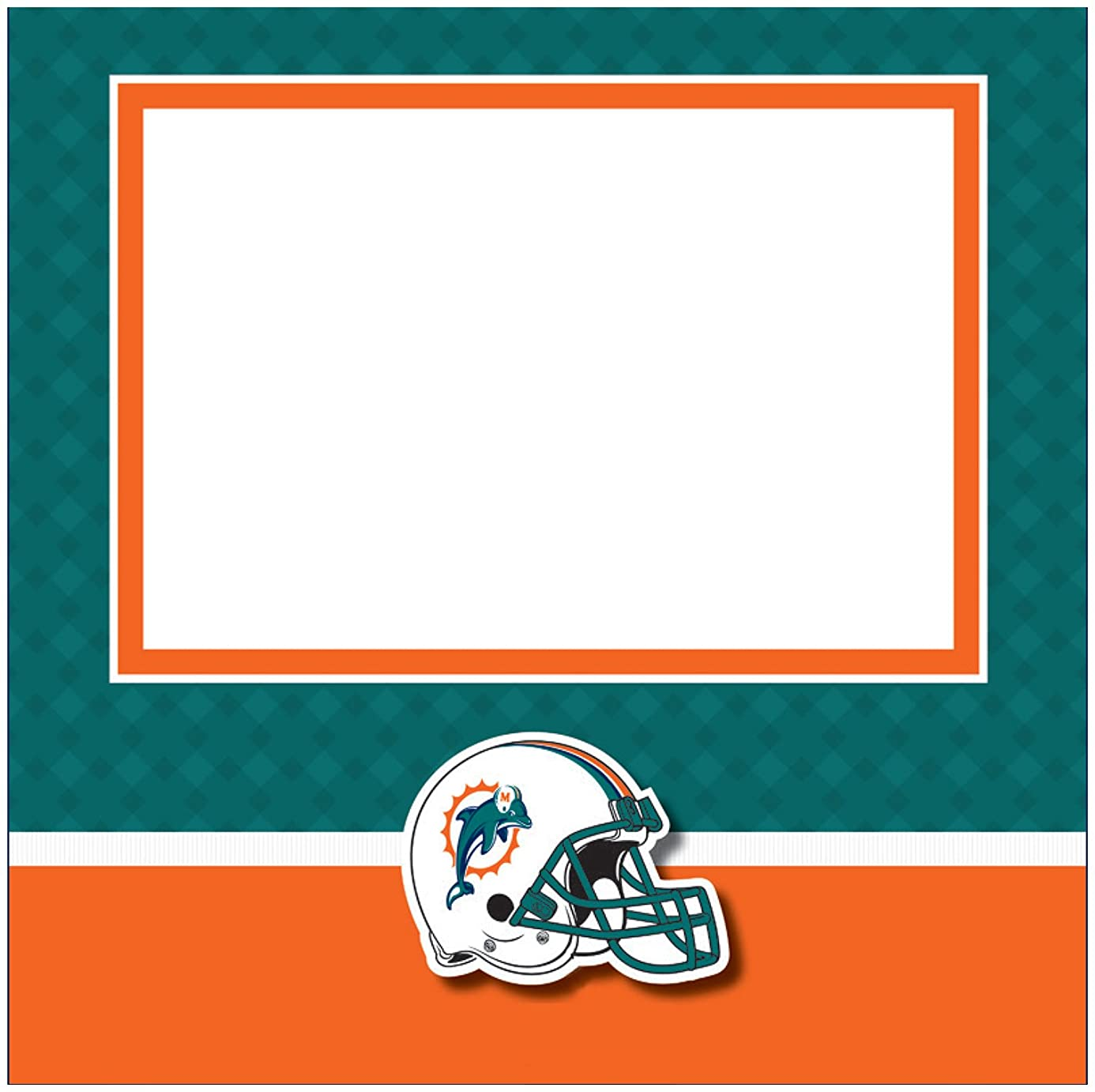 C.R. Gibson Scrapbook Complete Kit, Small, Miami Dolphins (N878440M)