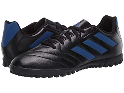 adidas Kids Goletto VII TF J Soccer (Little Kid/Big Kid) (Black/Team Royal Blue) Kids Shoes