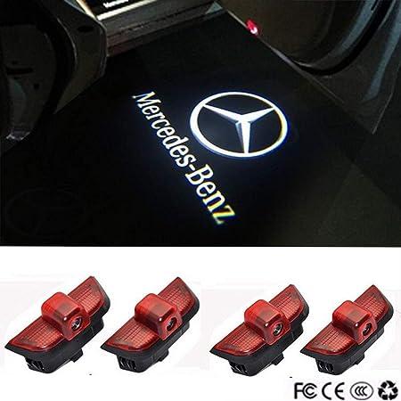 Door Logo Lights Projector Shadow Ghost Light Emblem Welcome Lamp Puddle Lights for Mercedes C Class W204 C200 C230 C280 C260 C300 3D LED Door Lights Auto Accessories 2 PCS