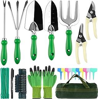 Minterest 60 Piezas Herramientas Jardinería, Kit Jardineria Guantes Jardineria Acero Pala Jardineria Rastrillo Jardin Inox...