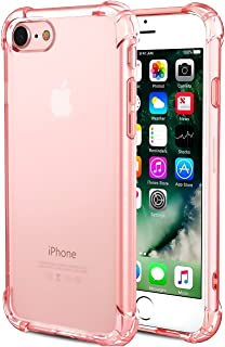 CaseHQ iPhone 6 Case, iPhone 6s Case,Crystal Clear Shock Absorption Bumper Slim Fit,Heavy Duty Protection TPU Cover Case for Apple iPhone 6/iPhone 6S (4.7 inch) -Rosegold