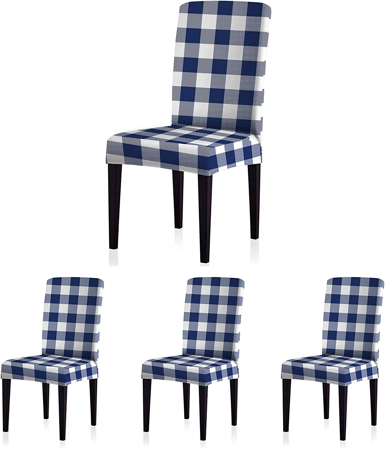 ColorBird Buffalo Tampa Mall Check Spandex Slipcovers 25% OFF Unive Removable Chair