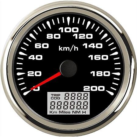 Eling Gps Tachometer Velometer 0 200 Km H Geschwindigkeit Kilometerzähler Kilometerzähler Mit Hintergrundbeleuchtung 85 Mm Gewerbe Industrie Wissenschaft