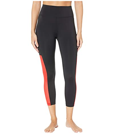 Nike All-In Mesh Pocket Crop Tights (Black/University Red/White) Women
