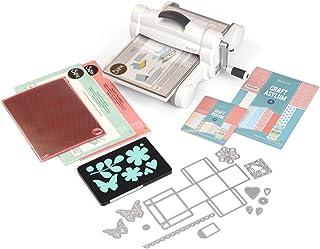 Sizzix Big Shot Plus Starter Kit, machine de découpe et de gaufrage manuelle format A4 (Ouverture 21 cm) avec matrices Thi...