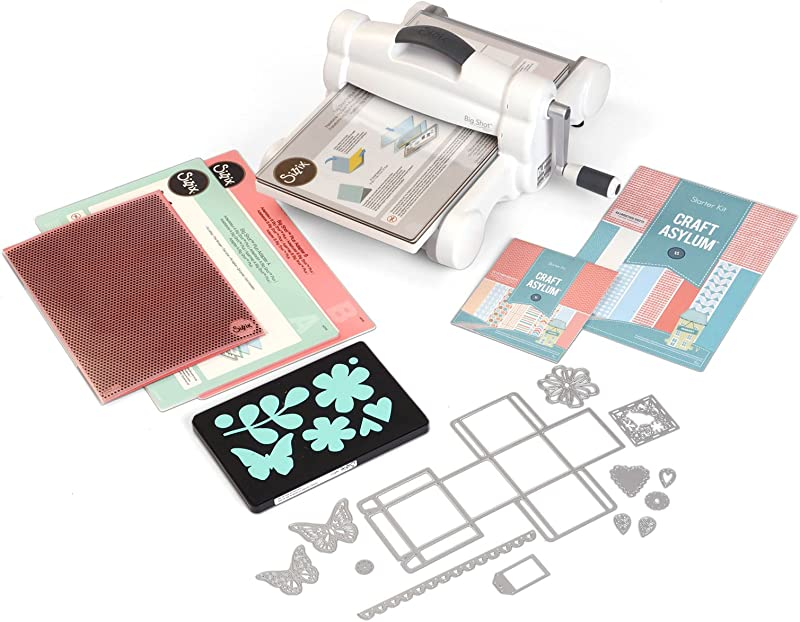 Sizzix Big Shot Plus Starter Kit Manual Die Cutting And Embossing Machine With Thinlits Plus And Bigz L Dies Embossing Folder And Cardstock 9 In 21 Cm Opening