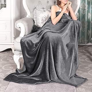 VANZAVANZU Extra Large Fleece Throw Blanket - 300GSM Flannel All Season 60