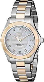 Tag Heuer Aquaracer Mother of Pearl Dial Stainless Steel and 18kt Rose Gold Ladies Watch WAP2351BD0838