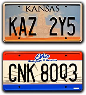 Celebrity Machines Supernatural | Kaz 2Y5 + CNK 80Q3 | Metal Stamped License Plate Combo