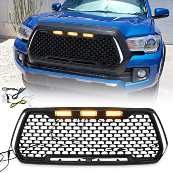 Modifying Front Grill Mesh Grille, Compatible with Toyota Tacoma 2016-2020 - Matte Black
