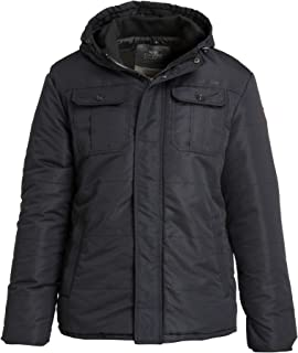 Crosshatch Beekham Men's Warm Quilted Padded Autumn Winter Jacket, Perfect Stylish Hooded Coat for Autumn Winter Season