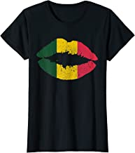 Womens Reggae T-Shirt Kissing Lips Rastafari Rasta Music Shirt Gift
