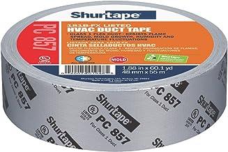 Shurtape PC 857 UL 181B-FX Vermeld/Gedrukt Doek Waterdicht HVAC Duct Tape, 48 mm, ZILVER, 1