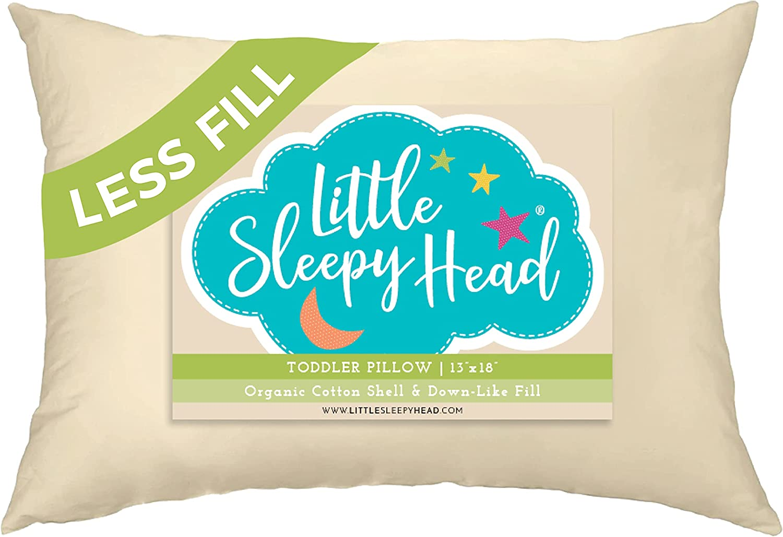 Manufacturer regenerated product Little Sleepy Head Toddler Pillow San Antonio Mall Co Less-Fill 13x18 Organic