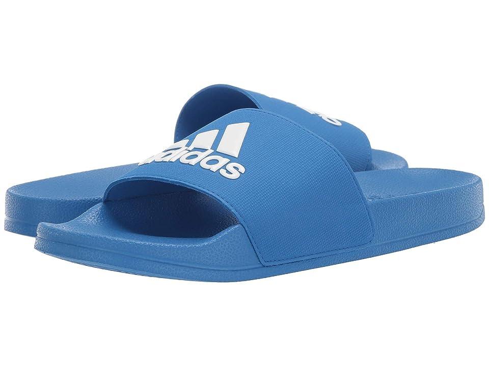 adidas Kids Adilette Shower Slide (Toddler/Little Kid/Big Kid) (True Blue/Footwear White/True Blue) Boys Shoes