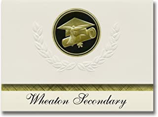 Signature Announcements Wheaton Secondary (Wheaton, MN) Graduation Announcements, Presidential style, Elite package of 25 ...