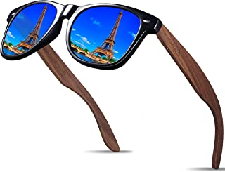 Handmade Bamboo Wood Sunglasses For Men and Women With Polarized Lens - Wooden Sunglasses S7061