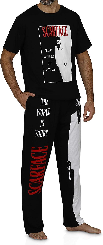 Scarface Tony Montana Men's Loungewear Pajama Shirt and Bottoms Set