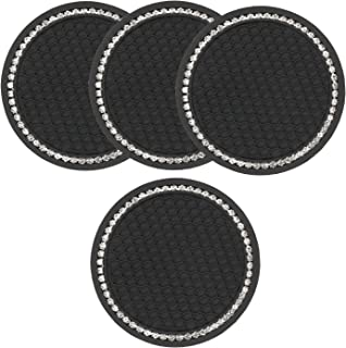 Bling Cup Holder 4 Pack, Diamond Car Accessories for Women Girls, 2.75 Inch Universal Vehicle Car Interior Accessories Aut...