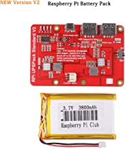 MakerFocus Raspberry Pi Battery Pack,RPI UPS Pack Standard(Raspberry Pi Battery, USB Battery Pack Raspberry Pi,)New Expansion Board Power Supply with Switch for Cellphone, RPi 3 Model B B+ & Pi 2B B+