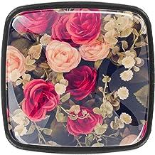 Keukenkast Knoppen - Rose - Knoppen voor dressoirladen voor kast, kast, badkamer of kantoor - Pack van 4