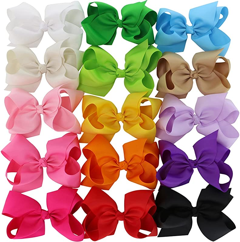 3 In 4 5in 6in Hair Bows For Girls Grosgrain Ribbon Large Butique Bow Clip Teens Toddlers Kids Children