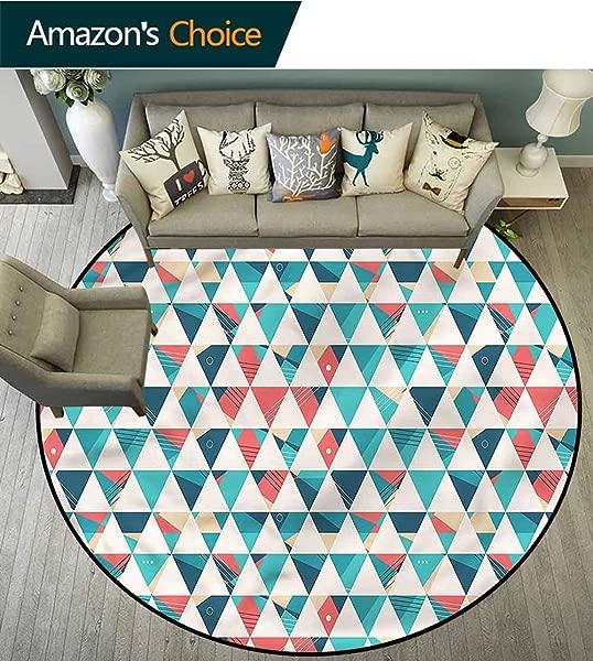 RUGSMAT 几何现代可水洗圆形浴垫三角形六角形圆形地毯客厅圆形 31