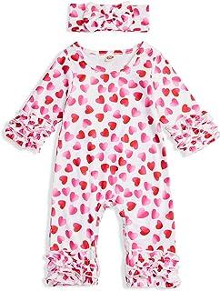 GRNSHTS Baby Girls Bikini Two Pieces Swimsuit Ruffle Red Dot Top Skirt Headband Outfits Set