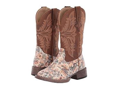 Roper Kids Claire (Toddler/Little Kid) (Floral Vamp/Tan Shaft) Cowboy Boots