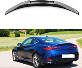 Mosion Auto for Infiniti Q60 Q60S Coupe 2017+ Carbon Fiber Rear Trunk Spoiler Wing Lips M4 Style