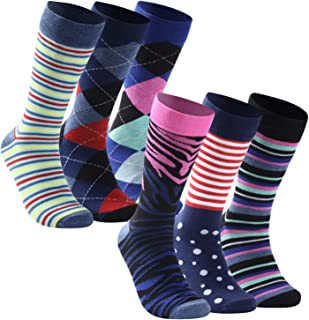 saillsen Business Dress Socks, Mens Colorful Classic Pattern Office Groomsmen Dress Socks,6/12 Pairs