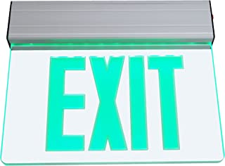 NICOR Lighting Edge Lit LED Emergency Exit Sign, Clear with Green Lettering (EXL2-10-UNV-AL-CL-G-1)