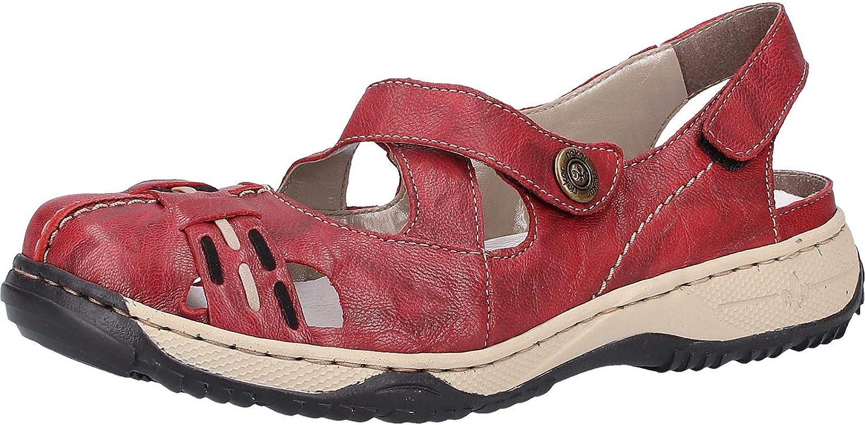 Rieker kvinnor Sandals röd (Wine  svart    Elefant) 47478 -35  snabb frakt och bästa service