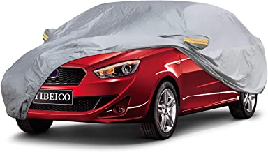 YIBEICO Car Cover Sedan Cover, Waterproof / Windproof / Snowproof / Dustproof / Scratch Resistant Outdoor UV Protection Full Auto Covers for Sedan
