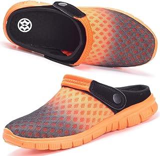 Hsyooes Mules Et Sabots Homme Femme Respirant Chaussures de Jardin Sandale à Enfiler Chaussons Pantoufles Été Taille 36-48