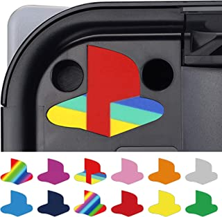 PlayVital Custom Vinyl Decal Skins for Playstation 5 Console, Logo Underlay Sticker for PS5 - 9 Colors & 3 Classic Retro S...