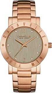 Caravelle New York 44L203 Women's Stainless Bracelet Grey Dial Rose Gold Watch