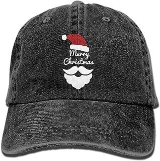 RZM YLY's Merry Christmas Unisex Adult Vintage Washed Denim Adjustable Baseball Cap