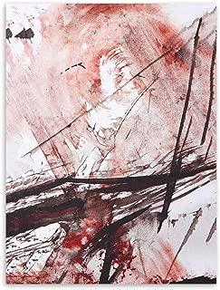 LiMengQi Moderno Abstracto Chino Tinta Salpicadura Lona A4 Arte ...