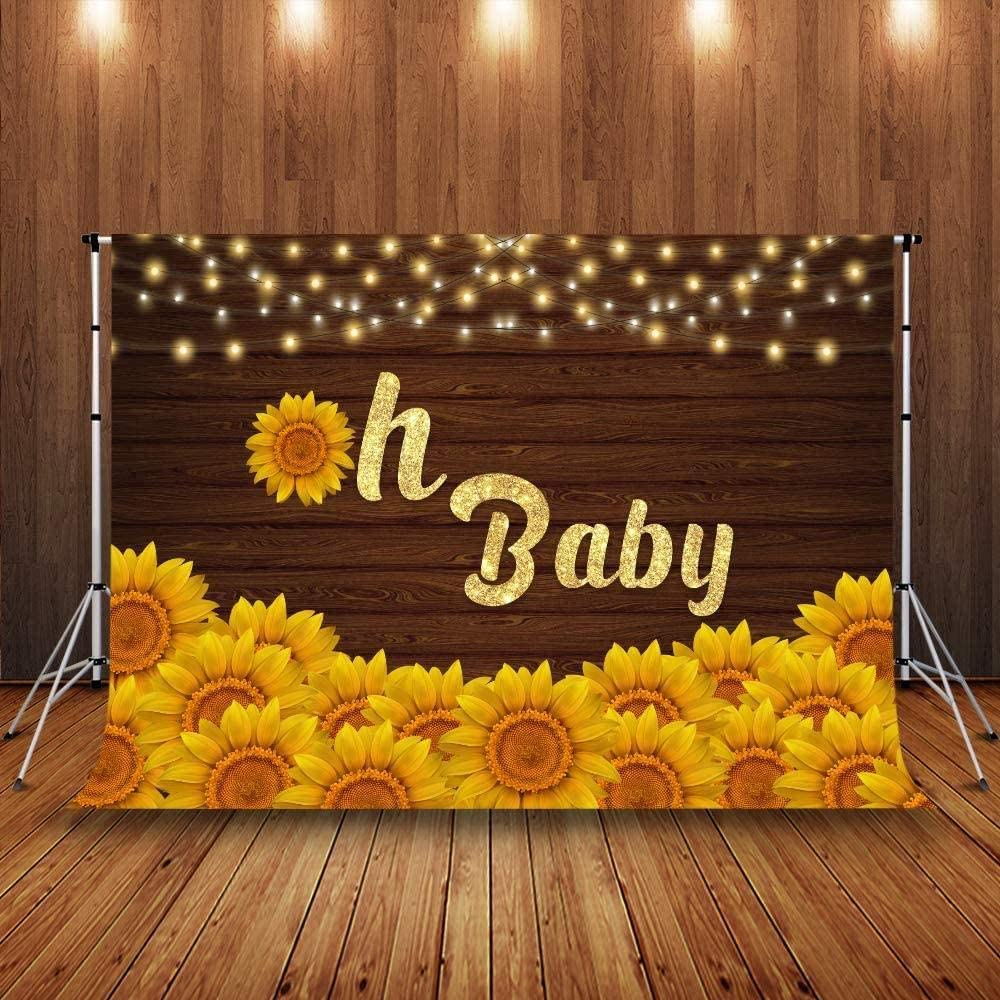2.1x1.5m Oh Baby Sunflowers Rustic Wood Welcome Newborn Party Baby Portrait Photo Background Photo Shooting Props 31 Zhy Baby Shower Photography Backdrop 7x5ft
