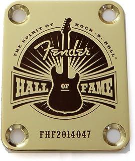 Standard 4 Bolt Hall of Fame - Custom Engraved Guitar Neck Plate - Gold