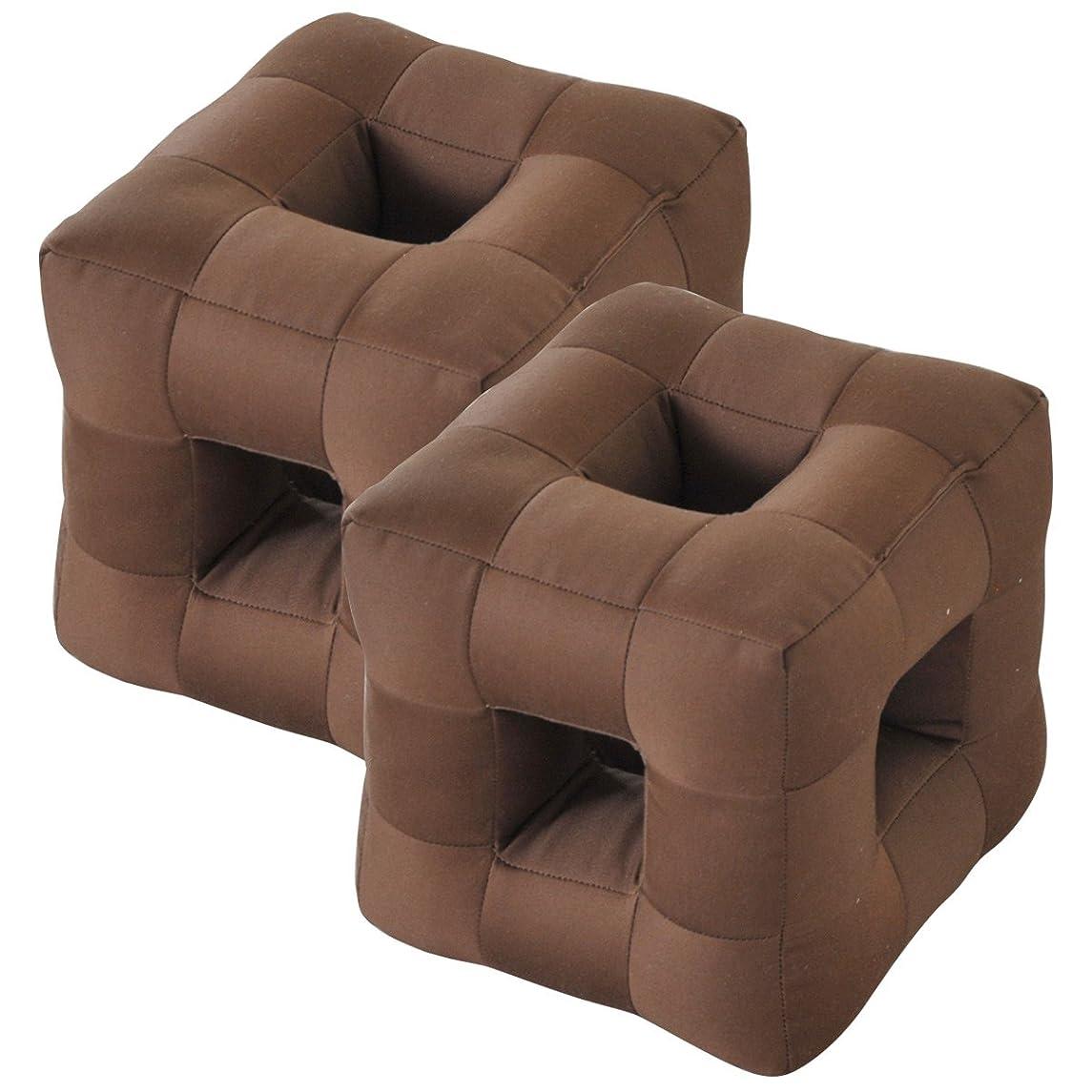 聖歌波紋反抗山善(YAMAZEN) 聞こえるごろ寝枕2個セット ブラウン2個組