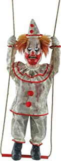 Morris Swinging Suicidal Clown Animated Prop, Circus Decoration