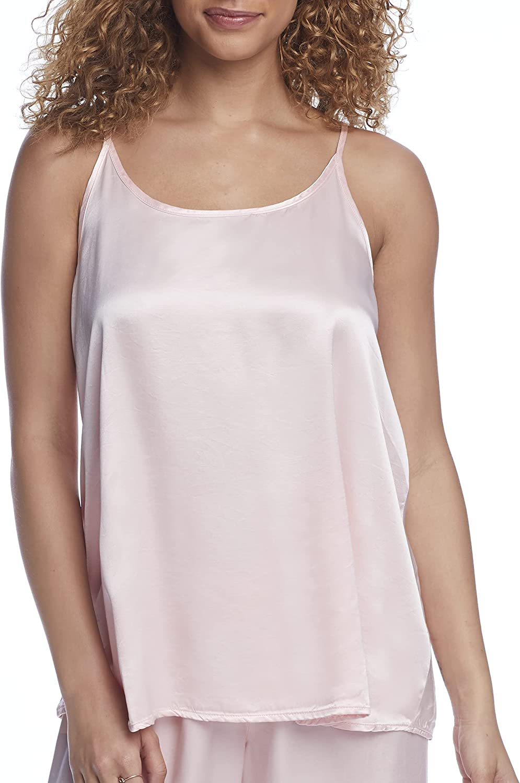 PJ Harlow Anne Satin Sleep Cami Top, XL, Light Peach