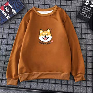 Shiba Inu Women's Pullover Sweatshirt, Sweatshirt Colorful Baggy Tops, Pullover Tops Blouse Clothes Teens Girls Boys