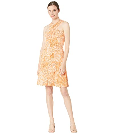 MICHAEL Michael Kors Arabesque Paisley Cross Neck Dress Women