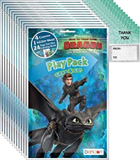 Dreamworks How to Train a Dragon: The Hidden World Grab n Go Play Packs (12 Pack) Party Favors and 12