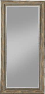Sandberg Furniture Antique Turquoise Farmhouse Full Length Leaner Mirror,