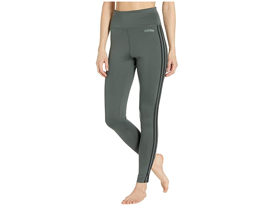 adidas Designed-2-Move High-Rise Long 3-Stripes Tights (Legend Ivy) Women